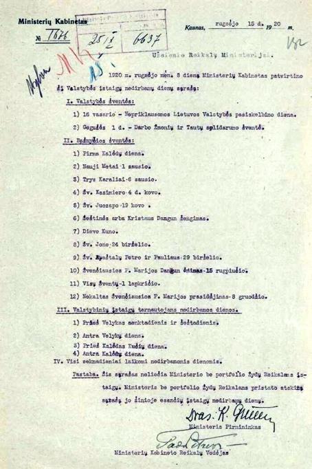 šventes 1920m